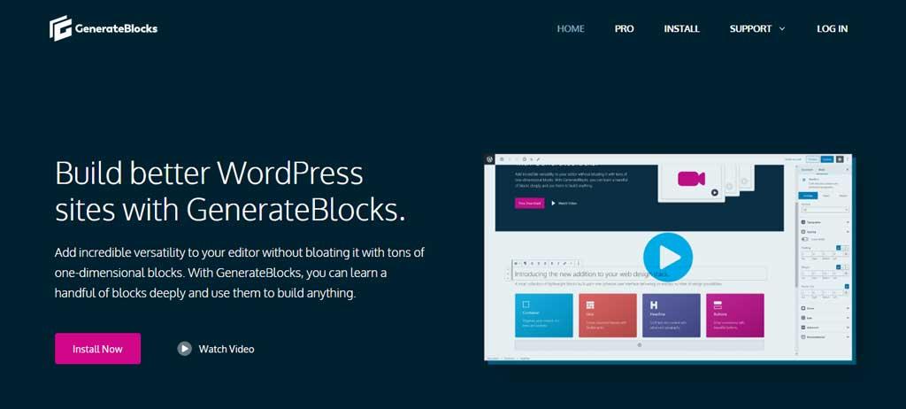 GenerateBlocks Hero HomePage
