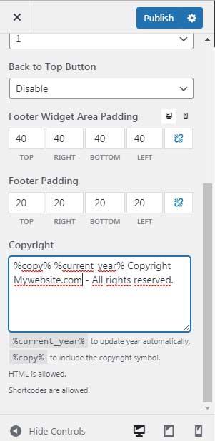 GeneratePress Premium Copyright Module