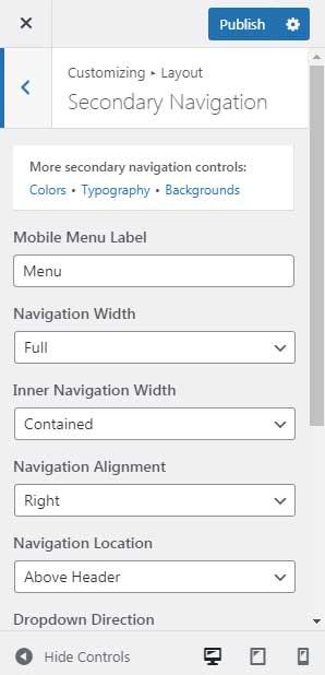 GeneratePress Premium Secondary Navigation Module