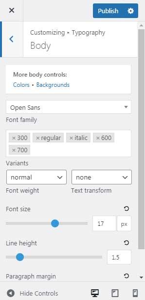 GeneratePress Premium Typography Module Features using Google Fonts