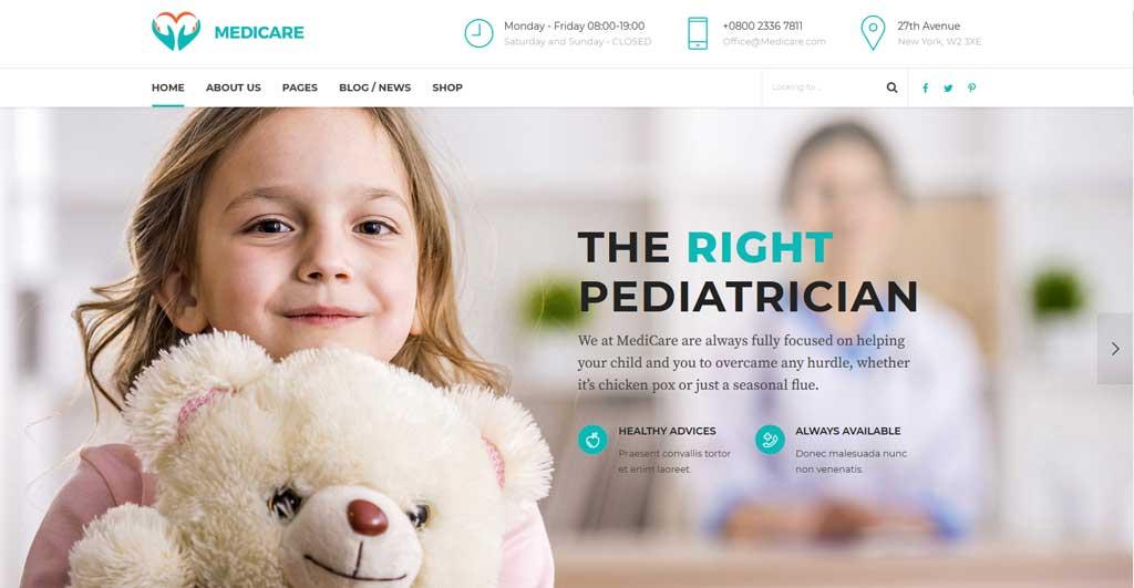 Medicare is health and medical multipurpose WordPress premium theme