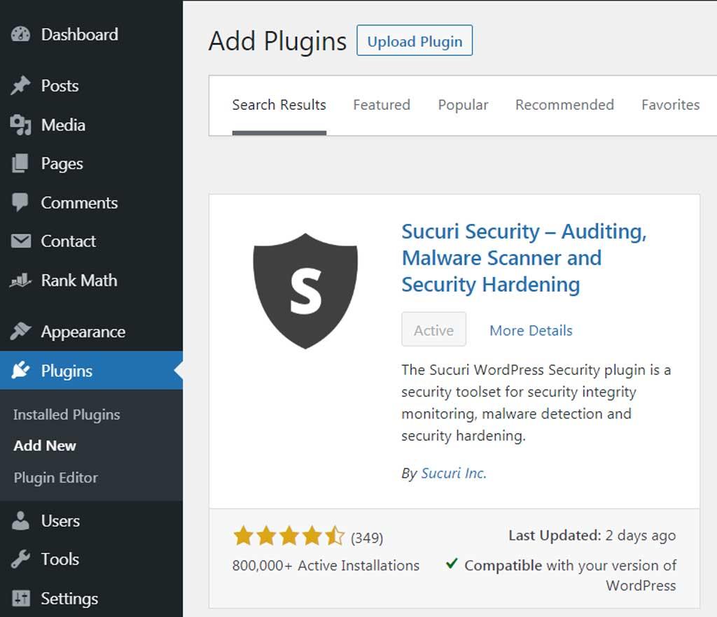 Sucuri Plugin on WordPress Directory