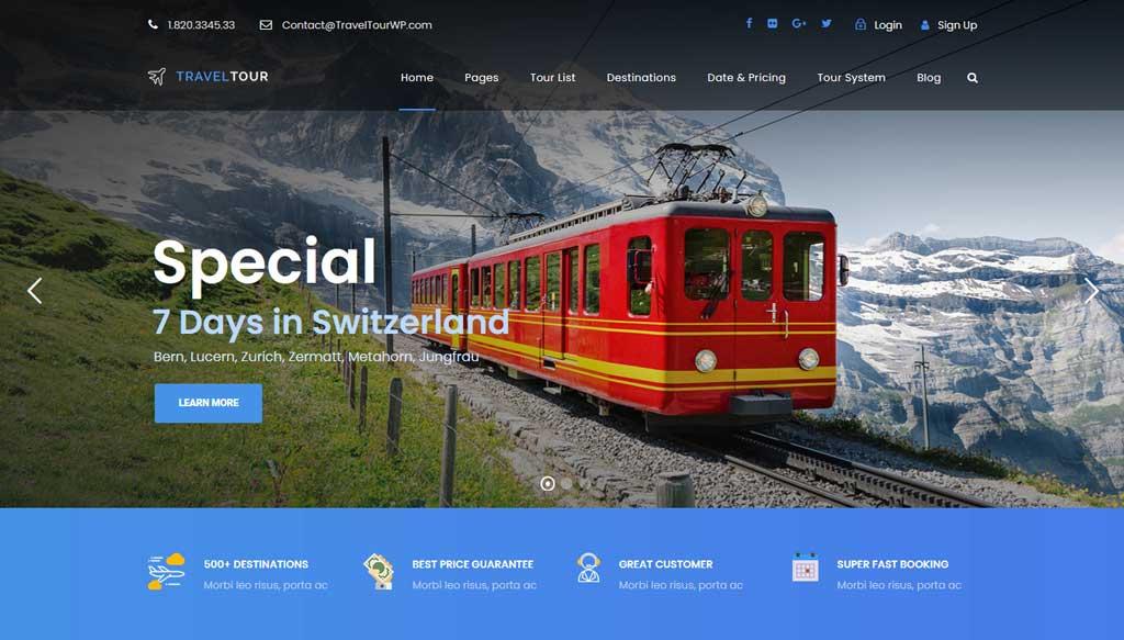 TravelTour a Travel & Tour Booking WordPress Theme by Goodlayers