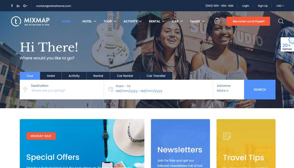 Traveler a Travel Booking WordPress Theme