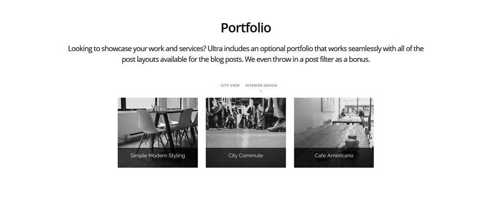 Ultra Theme Portfolio