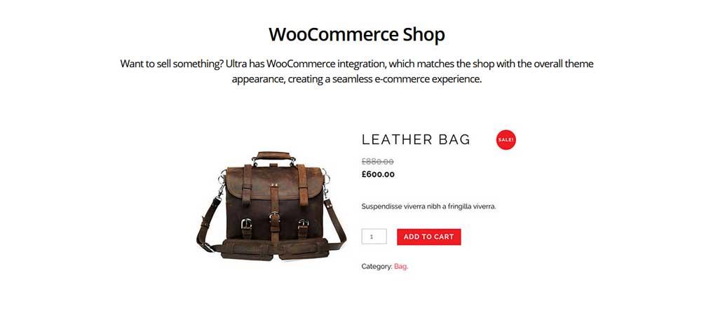 Ultra Theme Woocommerce Shop