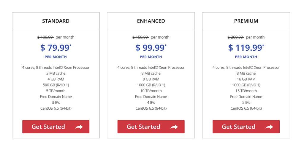 justhost dedicated hosting plans pricing