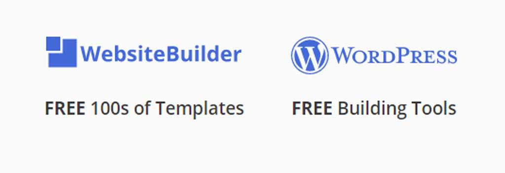 justhost website builder and wordpress applications