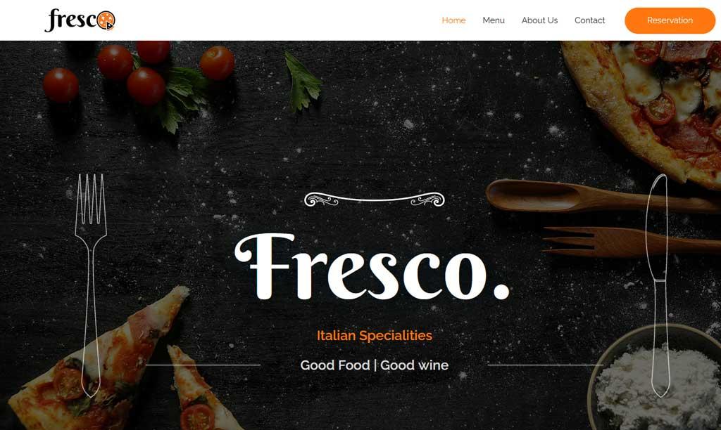 Astra Theme Fresco Italian Restaurant