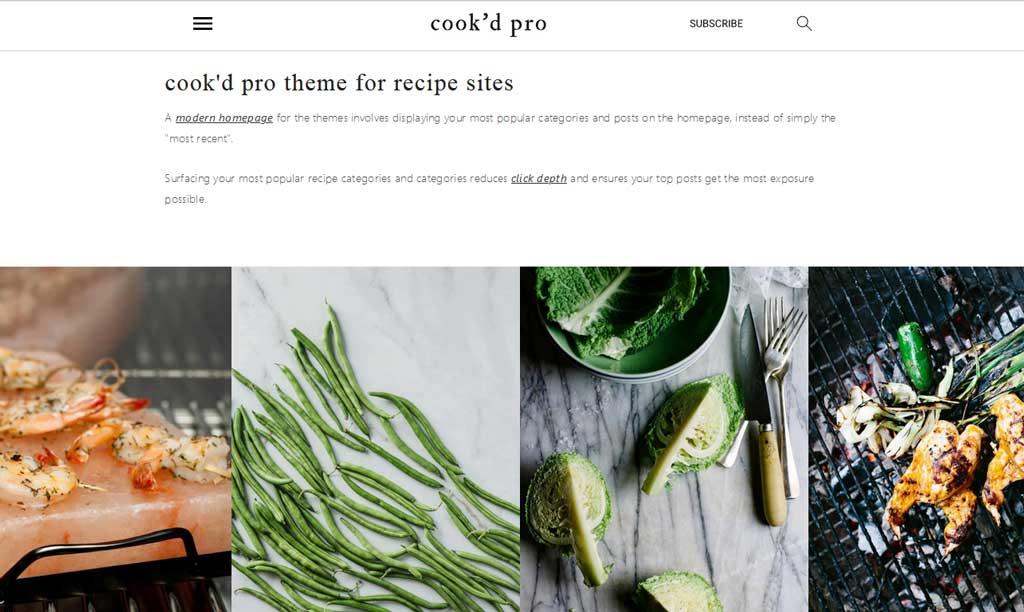 Cook'd Pro Theme StudioPress