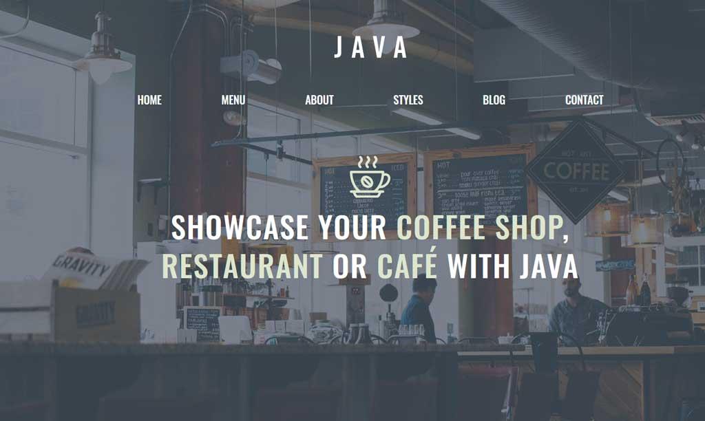 GeneratePress Theme Java Cafe and Coffee shop