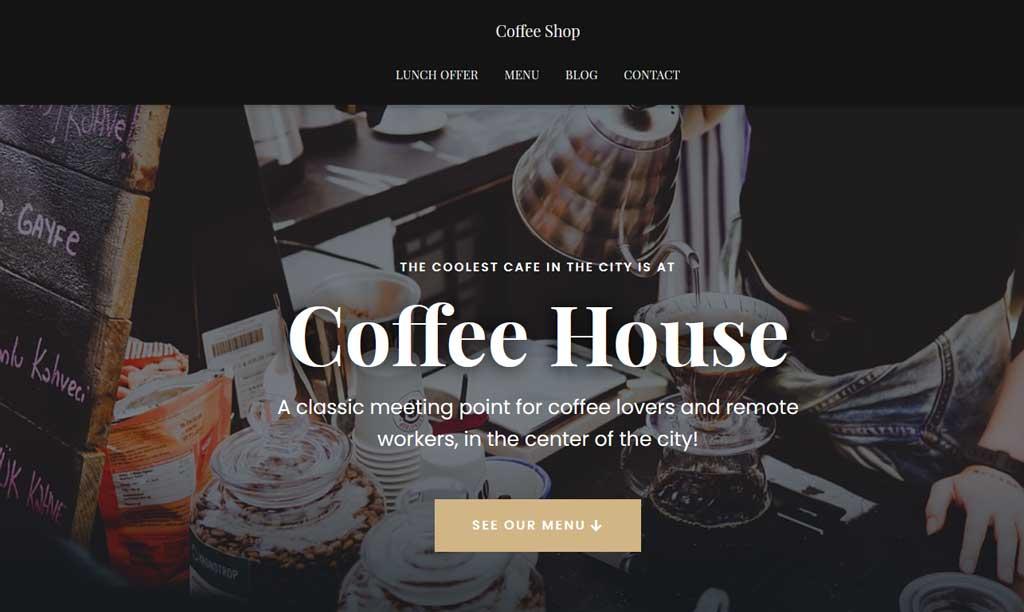 Hestia Pro Theme Coffee Shop