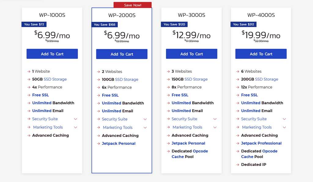 Inmotion WordPress Hosting Pricing Plans