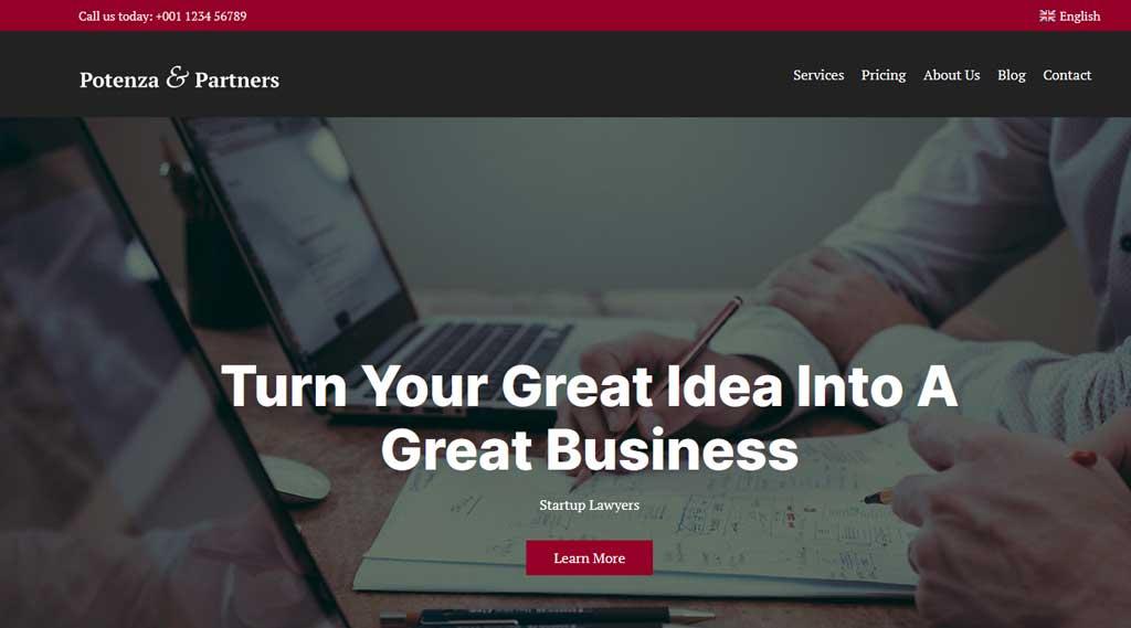 Potenza is a robust single page business WordPress theme