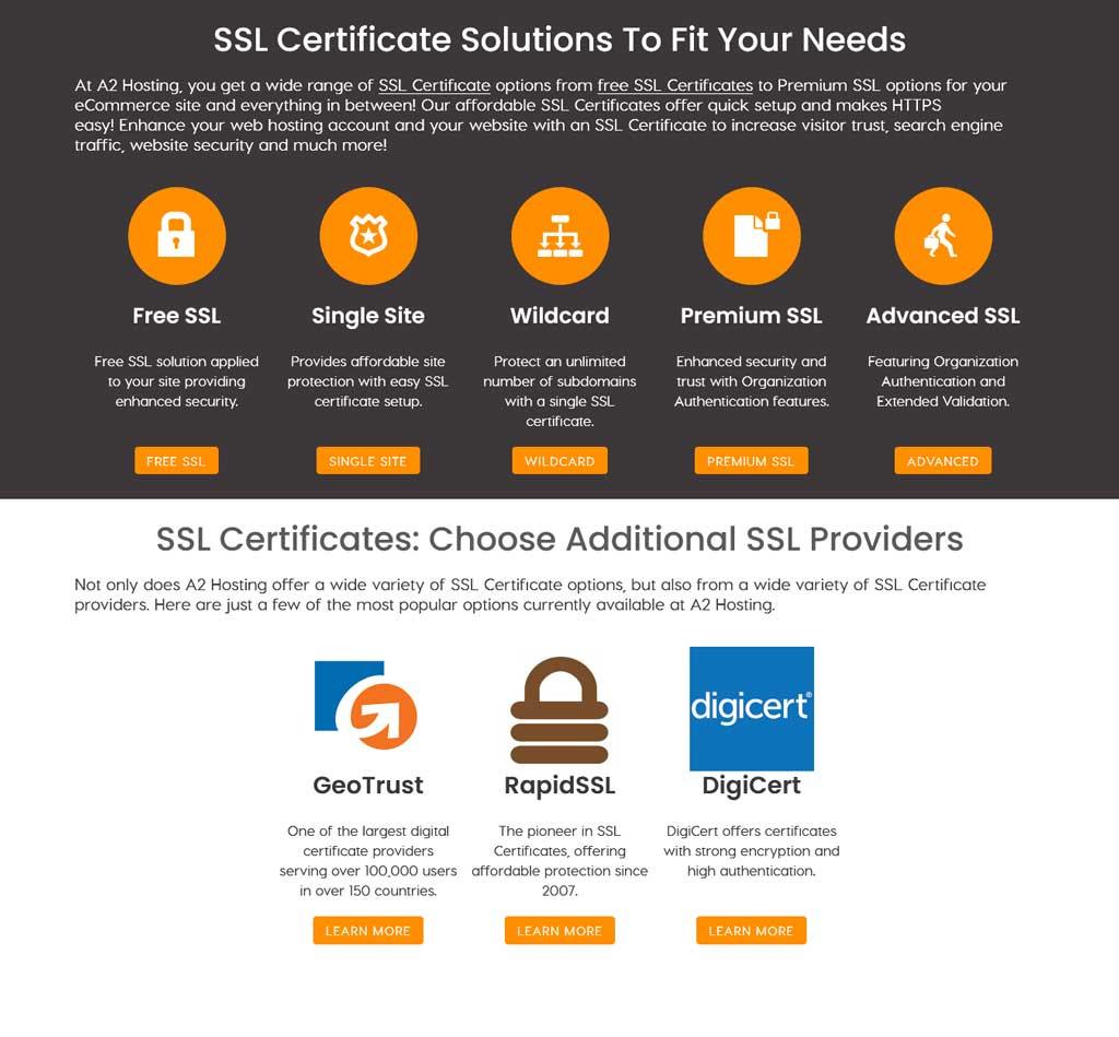 a2 hosting ssl