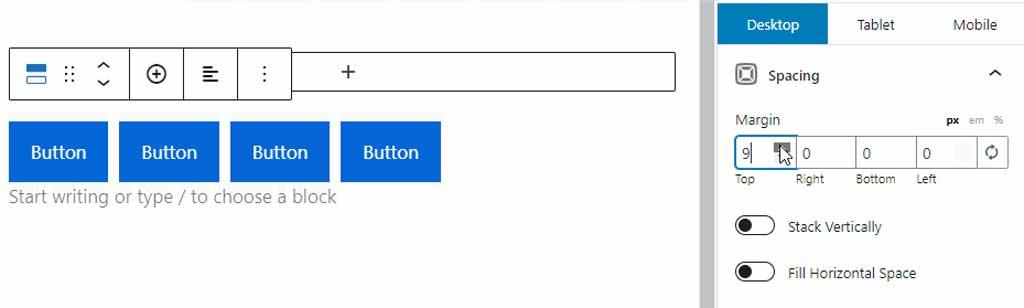 generateblocks buttons
