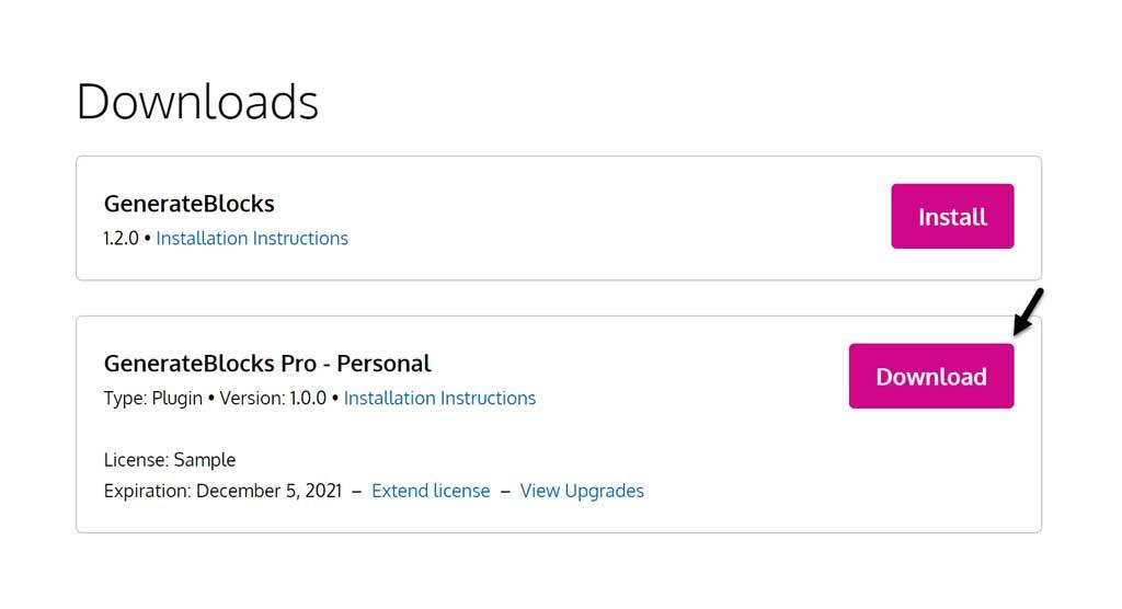 generateblocks premium download
