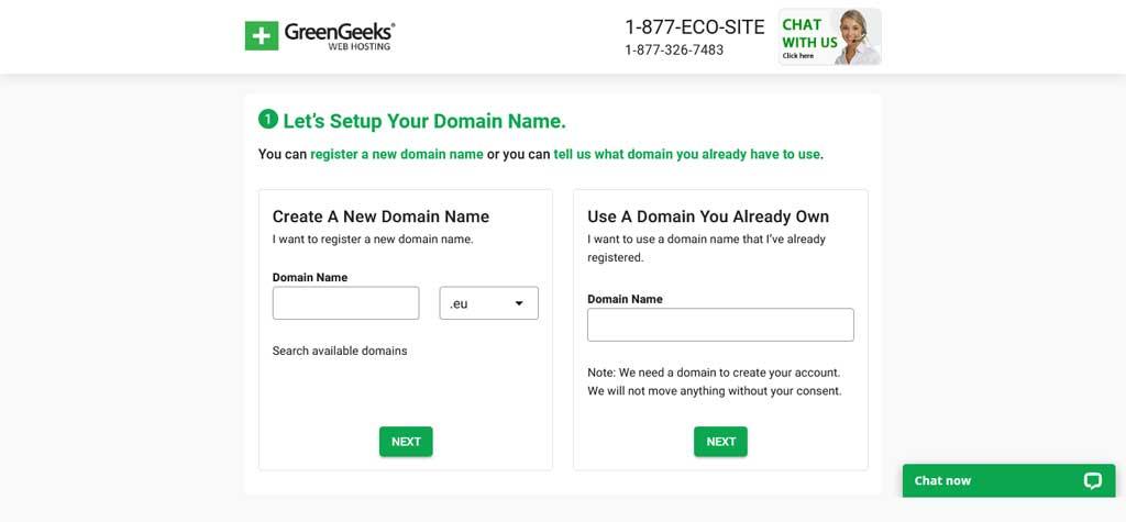 greengeeks domains registration