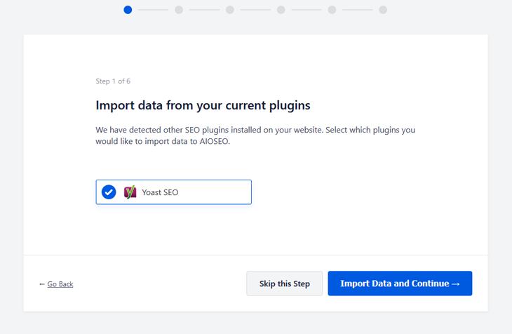 import seo data from yoast to all in one seo wordpress plugin