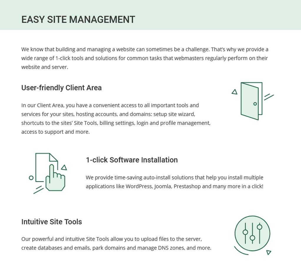 siteground easy site management