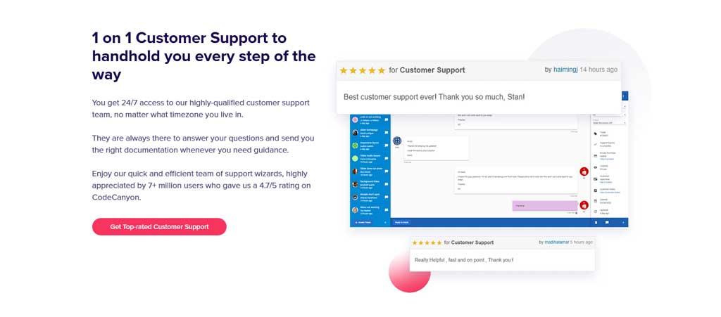 slider revolution 1 on 1 customer support