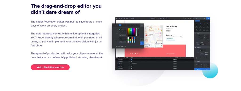 slider revolution drag and drop editor