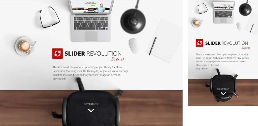 slider revolution responsive design